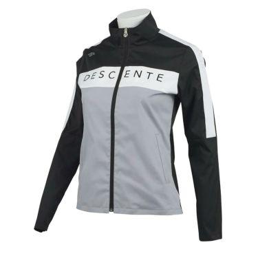 デサントゴルフ DESCENTE GOLF レディース ロゴプリント ストレッチ 配色切替 長袖 フルジップ ジャケット DGWQJK00 2020年モデル ブラック(BK00)