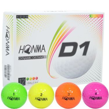 本間ゴルフ D1 ゴルフボール 2020年モデル マルチカラー