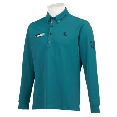 ルコック Le coq sportif メンズ ロゴ刺繍 鹿の子 長袖 ボタンダウン ポロシャツ QGMQJB06 2020年モデル ブルー(BL00)