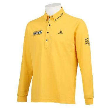 ルコック Le coq sportif メンズ ロゴ刺繍 鹿の子 長袖 ボタンダウン ポロシャツ QGMQJB06 2020年モデル イエロー(YL00)