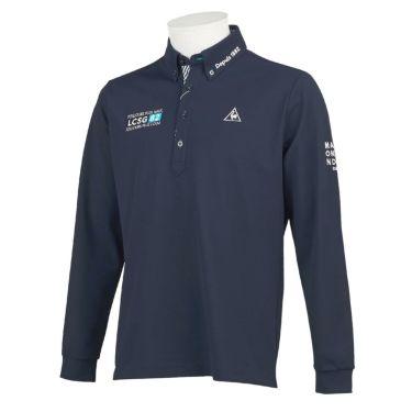 ルコック Le coq sportif メンズ ロゴ刺繍 鹿の子 長袖 ボタンダウン ポロシャツ QGMQJB06 2020年モデル ネイビー(NV00)