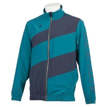 ルコック Le coq sportif メンズ 撥水 ストレッチ ロゴプリント カラーブロック 長袖 フルジップ ブルゾン QGMQJK03 2020年モデル ブルー(BL00)