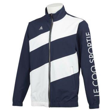ルコック Le coq sportif メンズ 撥水 ストレッチ ロゴプリント カラーブロック 長袖 フルジップ ブルゾン QGMQJK03 2020年モデル ネイビー(NV00)