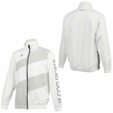 ルコック Le coq sportif メンズ 撥水 ストレッチ ロゴプリント カラーブロック 長袖 フルジップ ブルゾン QGMQJK03 2020年モデル 詳細3