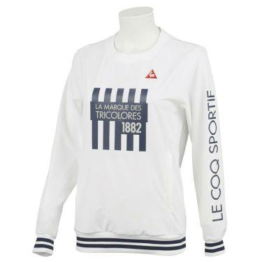 ルコック Le coq sportif レディース 撥水 ストレッチ ロゴプリント 長袖 クルーネック プルオーバー ブルゾン QGWQJK02 2020年モデル ホワイト(WH00)