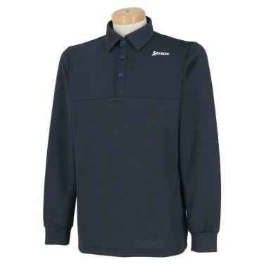 スリクソン SRIXON メンズ シャドーボーダー柄 長袖 ポロシャツ RGMQJB04 2020年モデル ネイビー(NV00)