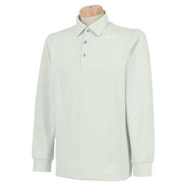 スリクソン SRIXON メンズ シャドーボーダー柄 長袖 ポロシャツ RGMQJB04 2020年モデル グレー(GY00)