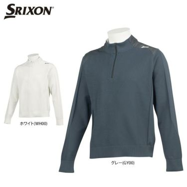 スリクソン SRIXON メンズ 生地切替 撥水 長袖 ハーフジップ セーター RGMQJL03 2020年モデル 詳細1
