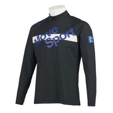 デサントゴルフ DESCENTE GOLF メンズ プリントデザイン 長袖 ハイネックシャツ DGMQJB14 2020年モデル ブラック(BK00)