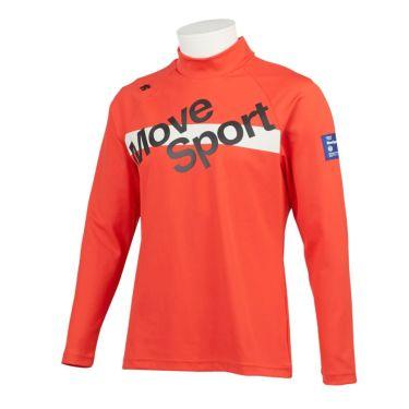デサントゴルフ DESCENTE GOLF メンズ プリントデザイン 長袖 ハイネックシャツ DGMQJB14 2020年モデル オレンジ(OR00)