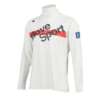 デサントゴルフ DESCENTE GOLF メンズ プリントデザイン 長袖 ハイネックシャツ DGMQJB14 2020年モデル ホワイト(WH00)