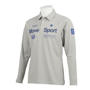 デサントゴルフ DESCENTE GOLF メンズ プリントデザイン 裏起毛 長袖 ポロシャツ DGMQJB15 2020年モデル グレー(GY00)
