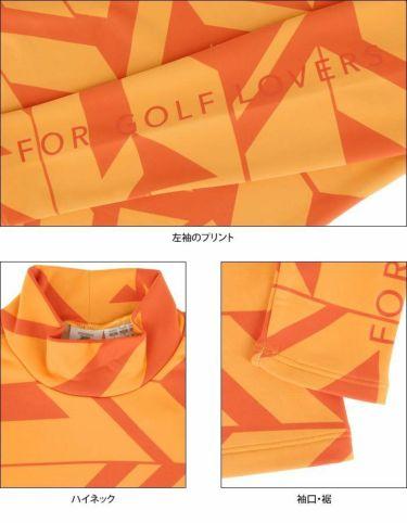 デサントゴルフ DESCENTE GOLF レディース 総柄プリント ヒートナビ 裏起毛 長袖 ハイネックシャツ DGWQJB07 2020年モデル 詳細4