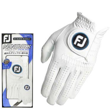 フットジョイ FootJoy ナノロックツアー 2020年モデル メンズ ゴルフグローブ FGNT20 WT ホワイト ホワイト(WT)