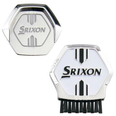 スリクソン SRIXON ブラシ付き ポケットマーカー GGF-25315 ホワイト 2020年モデル ホワイト