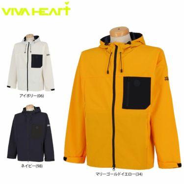 ビバハート VIVA HEART メンズ ワッペン ロゴプリント 撥水 ラインデザイン 長袖 フルジップ ブルゾン 011-53912 2020年モデル 詳細1