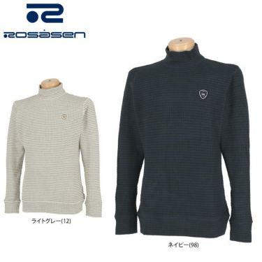 ロサーセン Rosasen メンズ ボーダー柄 長袖 モックネックシャツ 044-23012 2020年モデル 詳細1