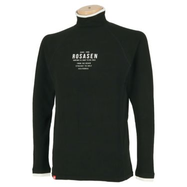 ロサーセン Rosasen メンズ ロゴプリント 長袖 ハイネックシャツ 044-23914 2020年モデル ブラック(19)