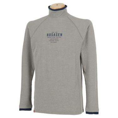 ロサーセン Rosasen メンズ ロゴプリント 長袖 ハイネックシャツ 044-23914 2020年モデル ライトグレー(12)