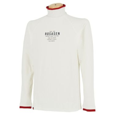 ロサーセン Rosasen メンズ ロゴプリント 長袖 ハイネックシャツ 044-23914 2020年モデル ホワイト(04)