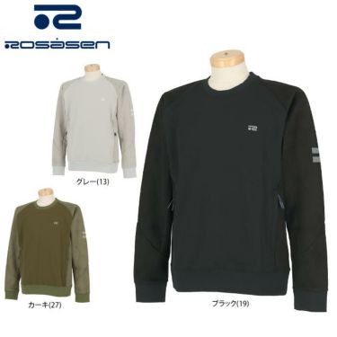 ロサーセン Rosasen メンズ 生地切替 ロゴプリント 長袖 トレーナー 044-33912 2020年モデル 詳細1