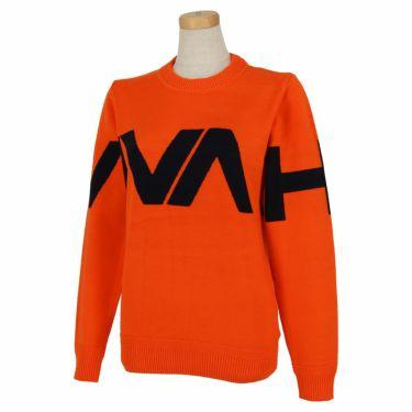 ビバハート VIVA HEART レディース ロゴインターシャ 長袖 クルーネック セーター 012-13910 2020年モデル オレンジ(35)