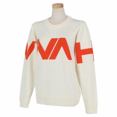 ビバハート VIVA HEART レディース ロゴインターシャ 長袖 クルーネック セーター 012-13910 2020年モデル オフホワイト(05)