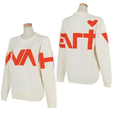ビバハート VIVA HEART レディース ロゴインターシャ 長袖 クルーネック セーター 012-13910 2020年モデル 詳細3
