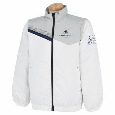 ルコック Le coq sportif メンズ 撥水 中綿 2WAY フルジップ ブルゾン QGMQJK04 2020年モデル ホワイト(WH00)