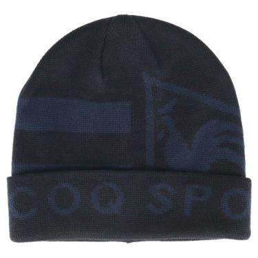 ルコック Le coq sportif メンズ ロゴジャカード ニットキャップ QGBQJC09 NV00 ネイビー 2020年モデル ネイビー(NV00)