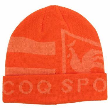 ルコック Le coq sportif メンズ ロゴジャカード ニットキャップ QGBQJC09 OR00 オレンジ 2020年モデル オレンジ(OR00)