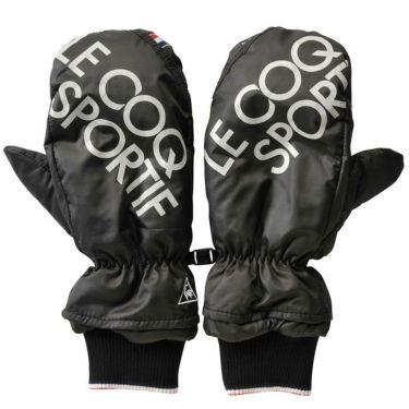 ルコック Le coq sportif メンズ 両手用 ミトン型 ハンドウォーマー QGBQJD51 BK00 ブラック 2020年モデル ブラック(BK00)