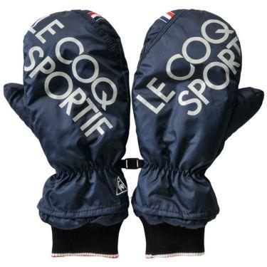 ルコック Le coq sportif メンズ 両手用 ミトン型 ハンドウォーマー QGBQJD51 NV00 ネイビー 2020年モデル ネイビー(NV00)