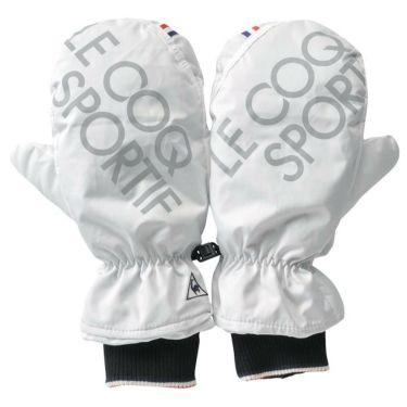 ルコック Le coq sportif メンズ 両手用 ミトン型 ハンドウォーマー QGBQJD51 WH00 ホワイト 2020年モデル ホワイト(WH00)
