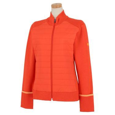 デサントゴルフ DESCENTE GOLF レディース 生地切替 中綿 長袖 フルジップ セーター DGWQJL06 2020年モデル オレンジ(OR00)