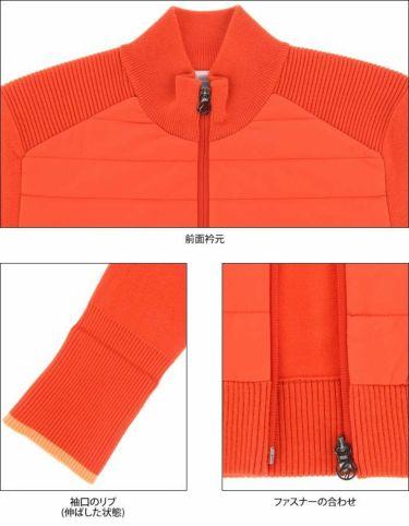 デサントゴルフ DESCENTE GOLF レディース 生地切替 中綿 長袖 フルジップ セーター DGWQJL06 2020年モデル 詳細4