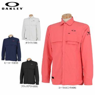 オークリー OAKLEY メンズ SKULL ロゴ刺繍 生地切替 ベンチレーション 長袖 ポロシャツ FOA401678 2020年モデル 詳細1