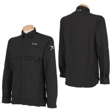 オークリー OAKLEY メンズ SKULL ロゴ刺繍 生地切替 ベンチレーション 長袖 ポロシャツ FOA401678 2020年モデル 詳細3