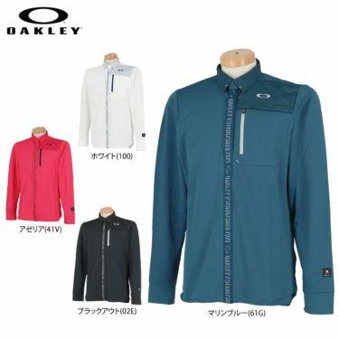 オークリー OAKLEY メンズ SKULL ロゴテープ 生地切替 長袖 ポロシャツ FOA401680 2020年モデル 詳細1