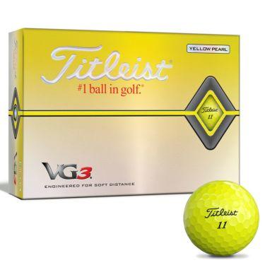 タイトリスト VG3 2020年モデル ゴルフボール 1ダース(12球入り) イエローパール