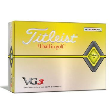タイトリスト VG3 2020年モデル ゴルフボール 1ダース(12球入り) イエローパール 詳細1