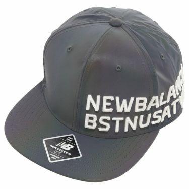 ニューバランスゴルフ メンズ SPORT 立体ロゴ刺繍 フラットブリム キャップ 012-0287001 113 ブルー 2020年モデル ブルー(113)