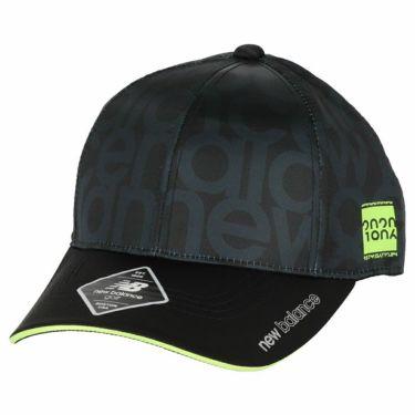 ニューバランスゴルフ レディース SPORT タイポグラフィ柄 6パネル キャップ 012-0287501 010 ブラック 2020年モデル ブラック(010)