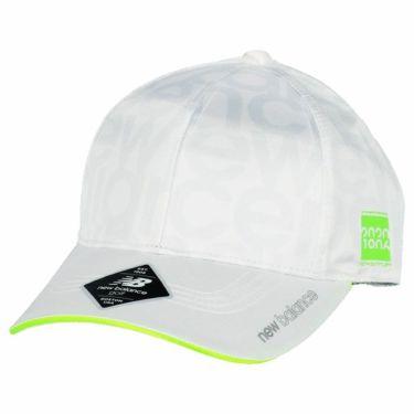 ニューバランスゴルフ レディース SPORT タイポグラフィ柄 6パネル キャップ 012-0287501 030 ホワイト 2020年モデル ホワイト(030)