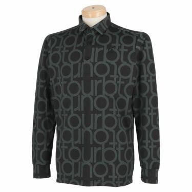 ブリヂストンゴルフ TOUR B メンズ 撥水 タイポグラフィ柄 防風 長袖 ポロシャツ SGM07F 2020年モデル ブラック(BK)