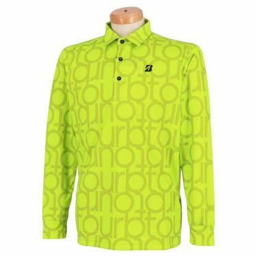 ブリヂストンゴルフ TOUR B メンズ 撥水 タイポグラフィ柄 防風 長袖 ポロシャツ SGM07F 2020年モデル イエロー(YE)