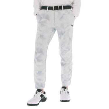 プーマ PUMA メンズ グラフィックプリント 裏起毛 ジョガーパンツ 930113 2020年モデル ブライトホワイト(03)