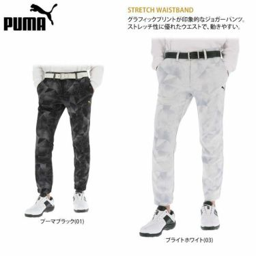 プーマ PUMA メンズ グラフィックプリント 裏起毛 ジョガーパンツ 930113 2020年モデル 詳細2