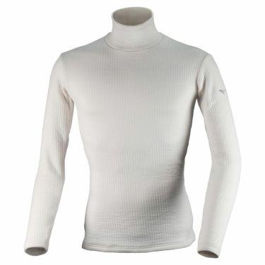 ミズノ MIZUNO メンズ バイオギア ブレスサーモ デラックスウォーム 長袖 ハイネック インナーシャツ 52MJ0504 2020年モデル ホワイト(52MJ050401)