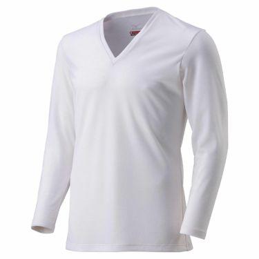 ミズノ MIZUNO メンズ ブレスサーモアンダー 長袖 Vネック インナーシャツ C2JA0610 2020年モデル オフホワイト(C2JA061002)